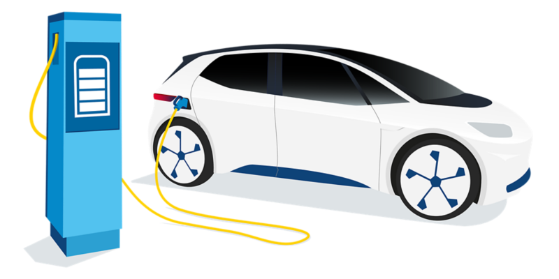 Illustration of an electric vehicle