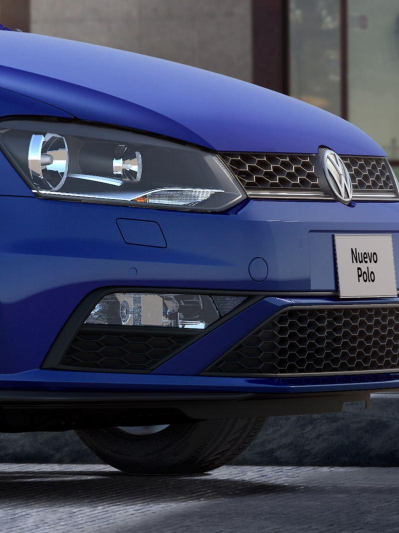 Faro de niebla en el frente en nuevo diseño de Polo 2020 de Volkswagen