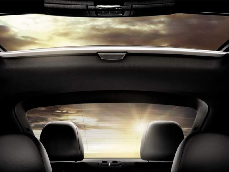 Panoramic sunroof in the Beetle