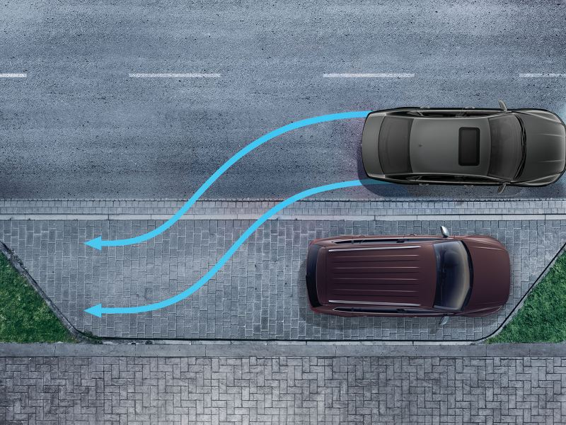 Park distance control in action on the Passat