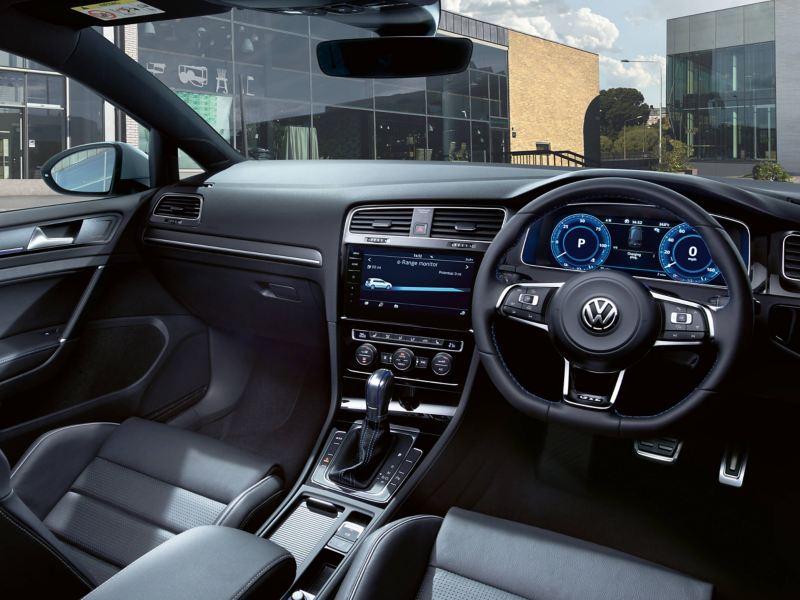 Dashboard of a Volkswagen Golf
