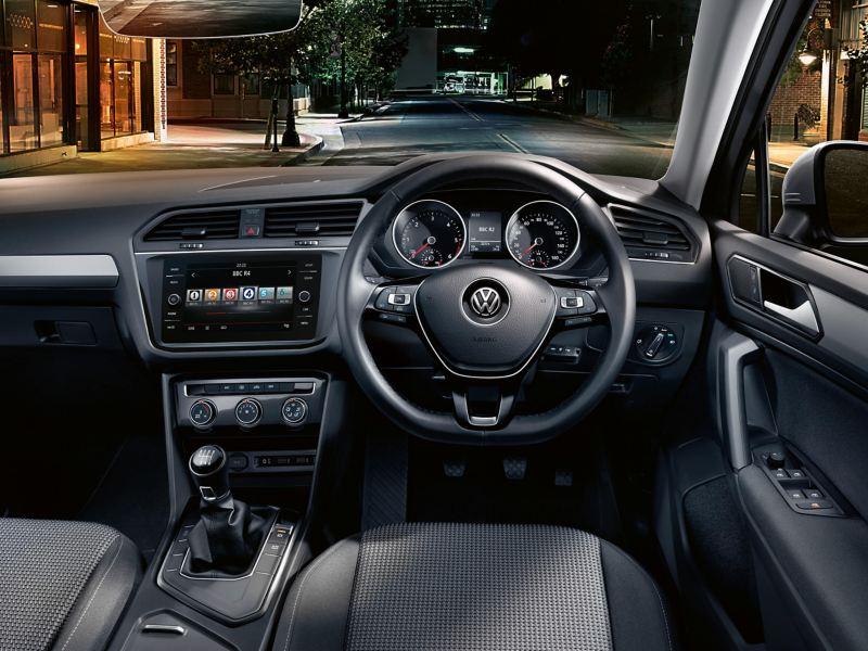Dashboard of a Volkswagen Tiguan