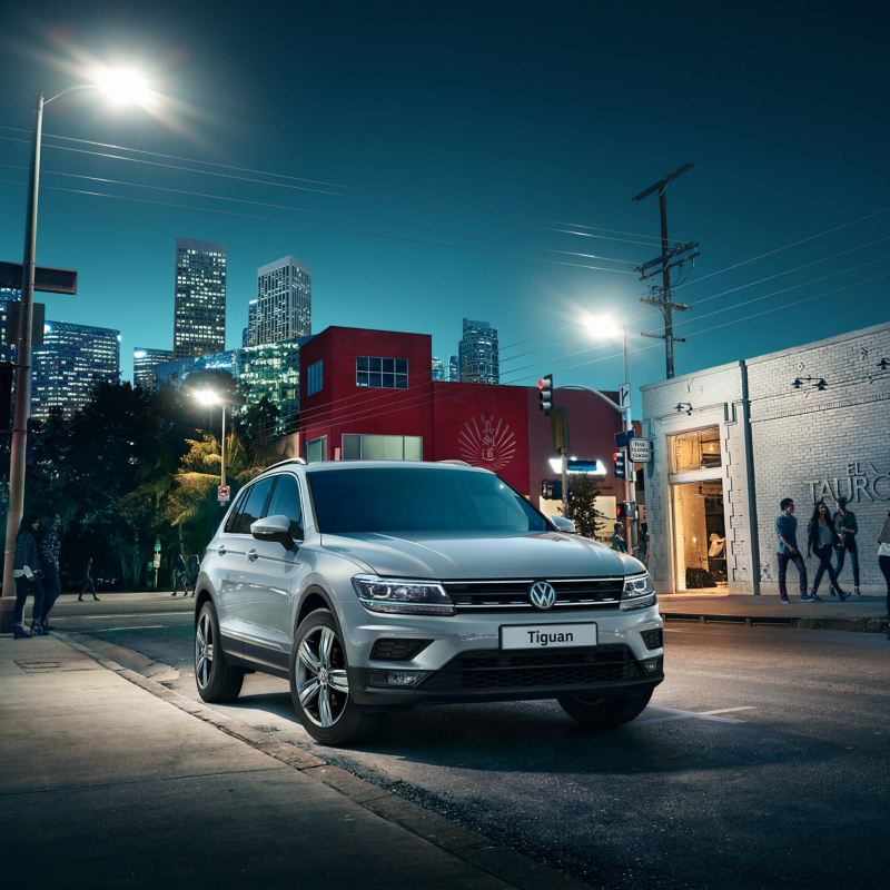 Volkswagen Tiguan parked on street