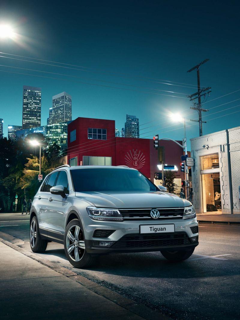 Volkswagen Tiguan parked on street