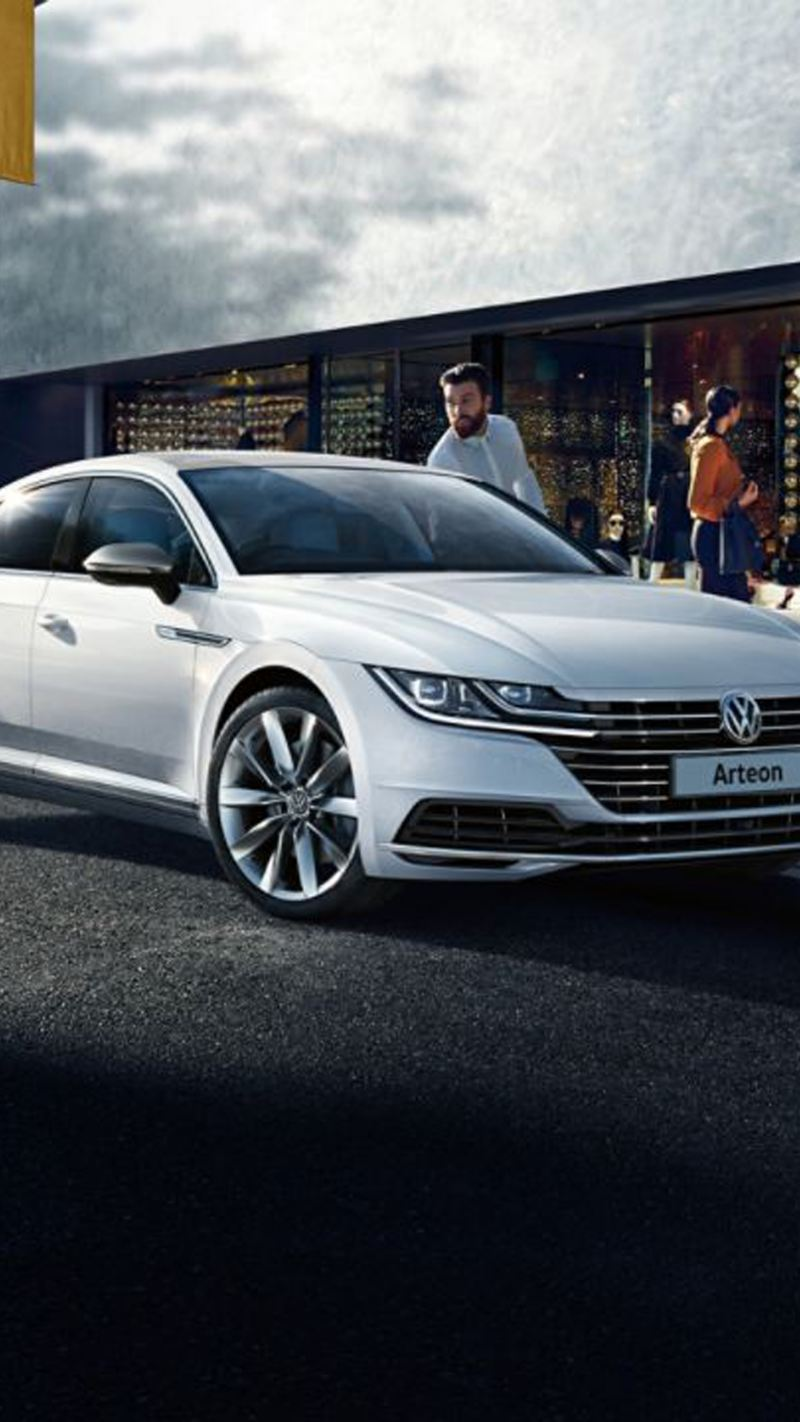 White Volkswagen Arteon