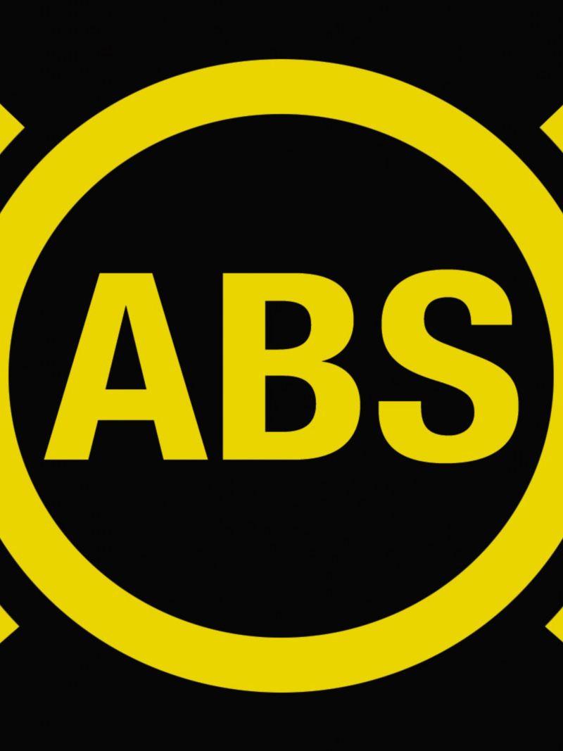 Logo del indicador del sistema de frenos ABS presentes en Nuevo Polo 2020 de Volkswagen
