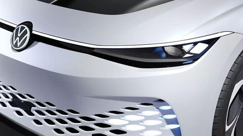 Face avant de la Volkswagen ID. SPACE VIZZION.