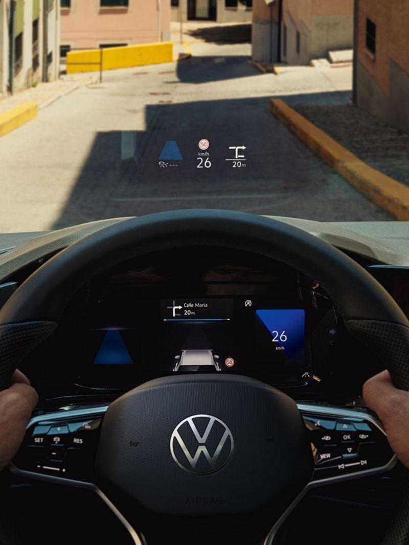 VW Golf avec affichage tête haute