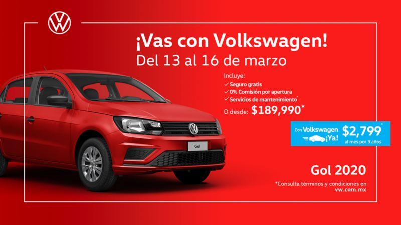 Gol 2020, el auto compacto a precio accesible en ofertas de carros de Volkswagen México