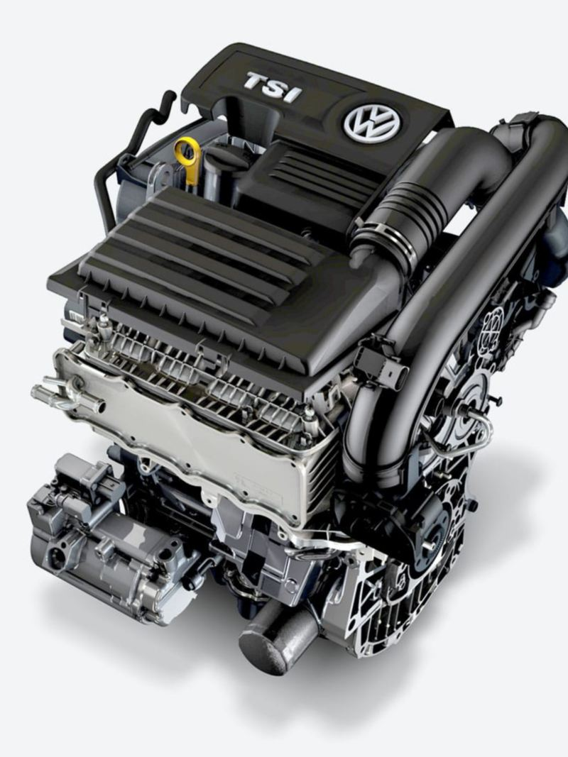 The powerful engine of the Jetta