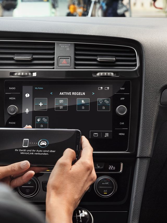 The Volkswagen Golf phone connectivity system
