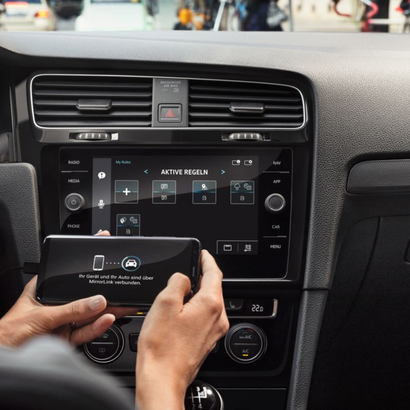 Phone connectivity in the Volkswagen Golf