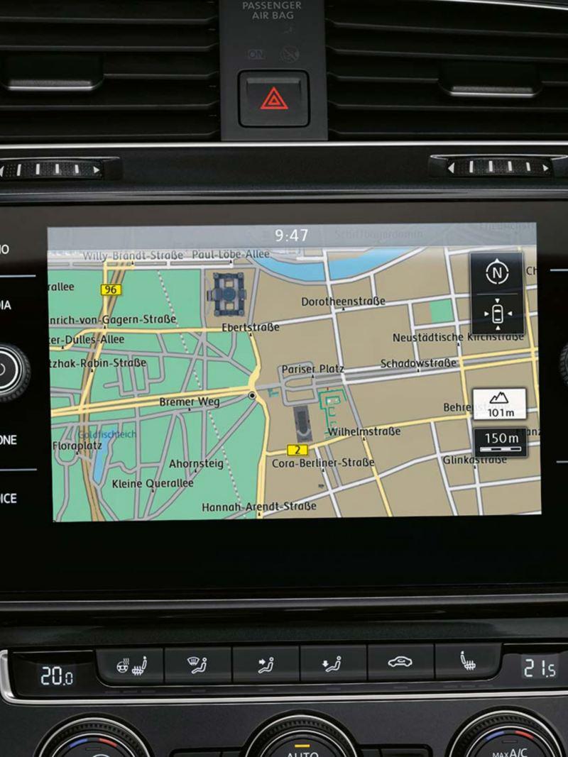 Volkswagen Golf navigation