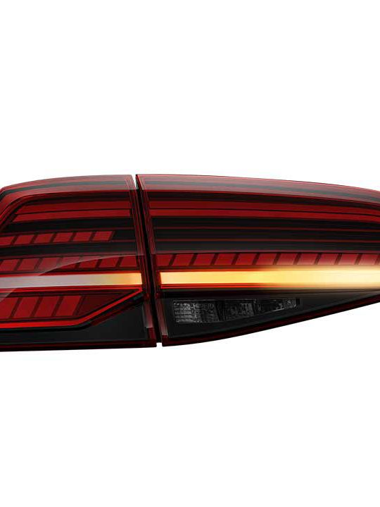 Volkswagen Golf LED tail-light, transparent background