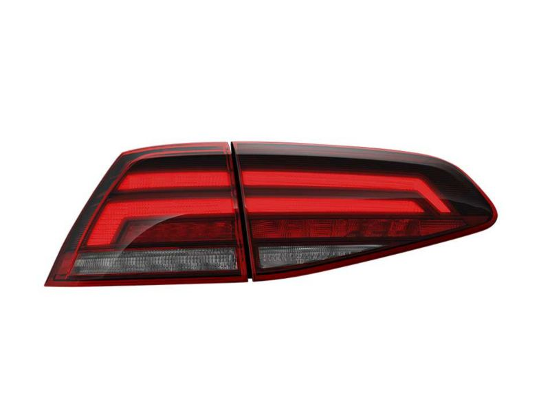Volkswagen Golf halogen tail-light, transparent background