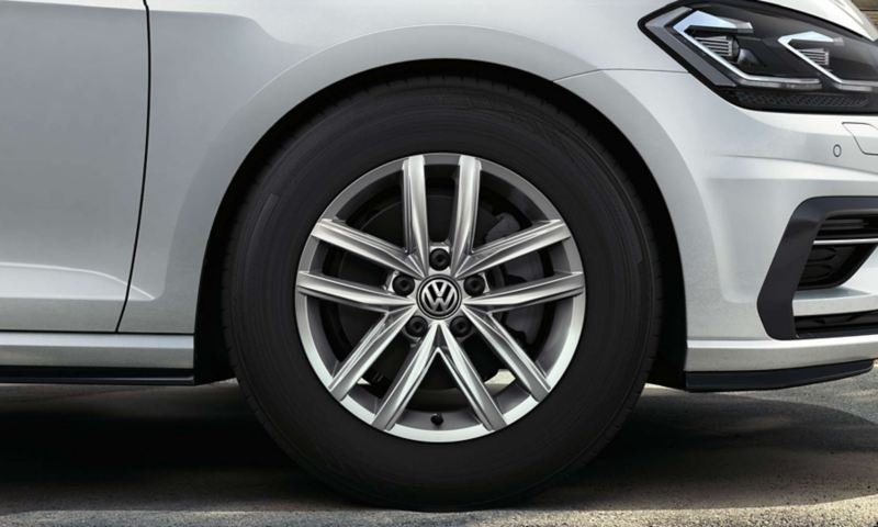 The Volkswagen Golf's Hita alloy wheels