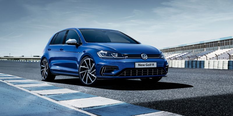 VW Golf R on the tracks