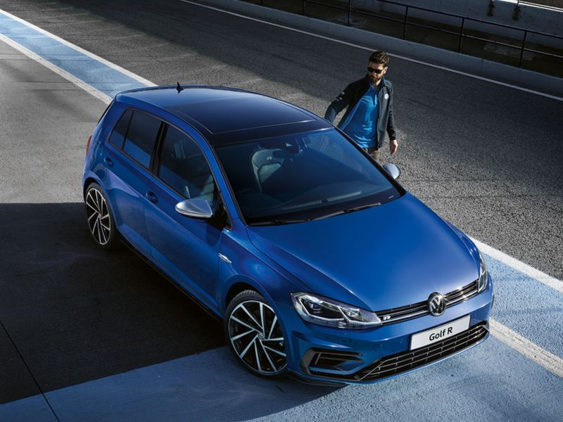 golf r areal view