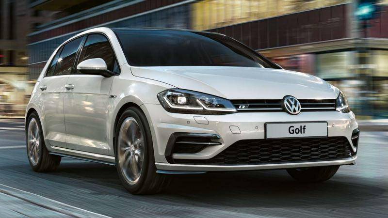 the new golf r-line in white