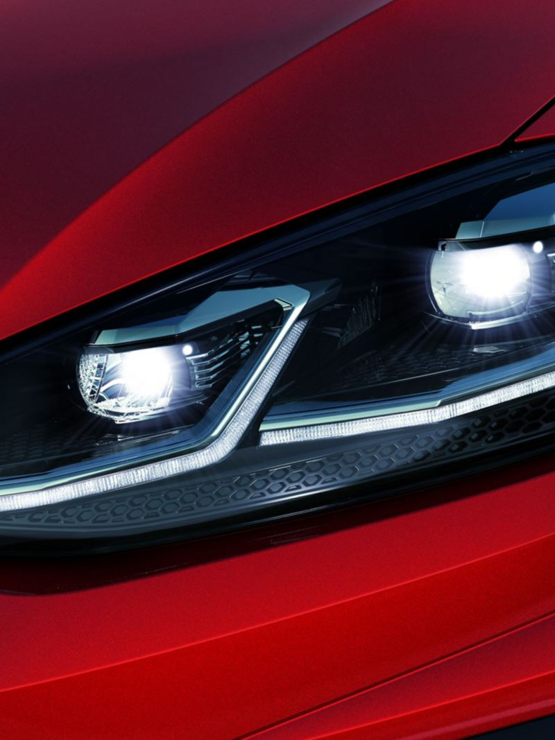 LED headlights on the Golf R