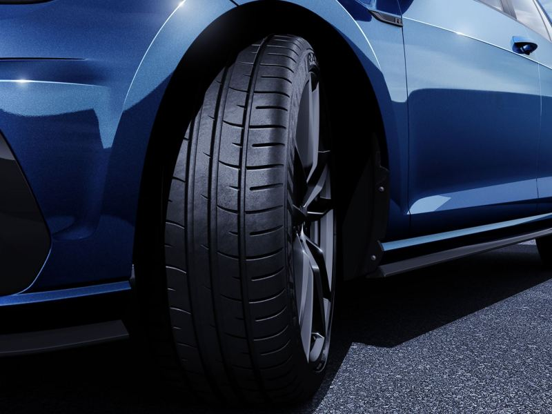 Performance tires on the Golf R