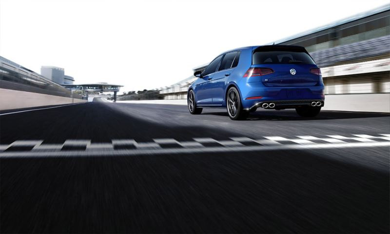 Golf R on the racetrack