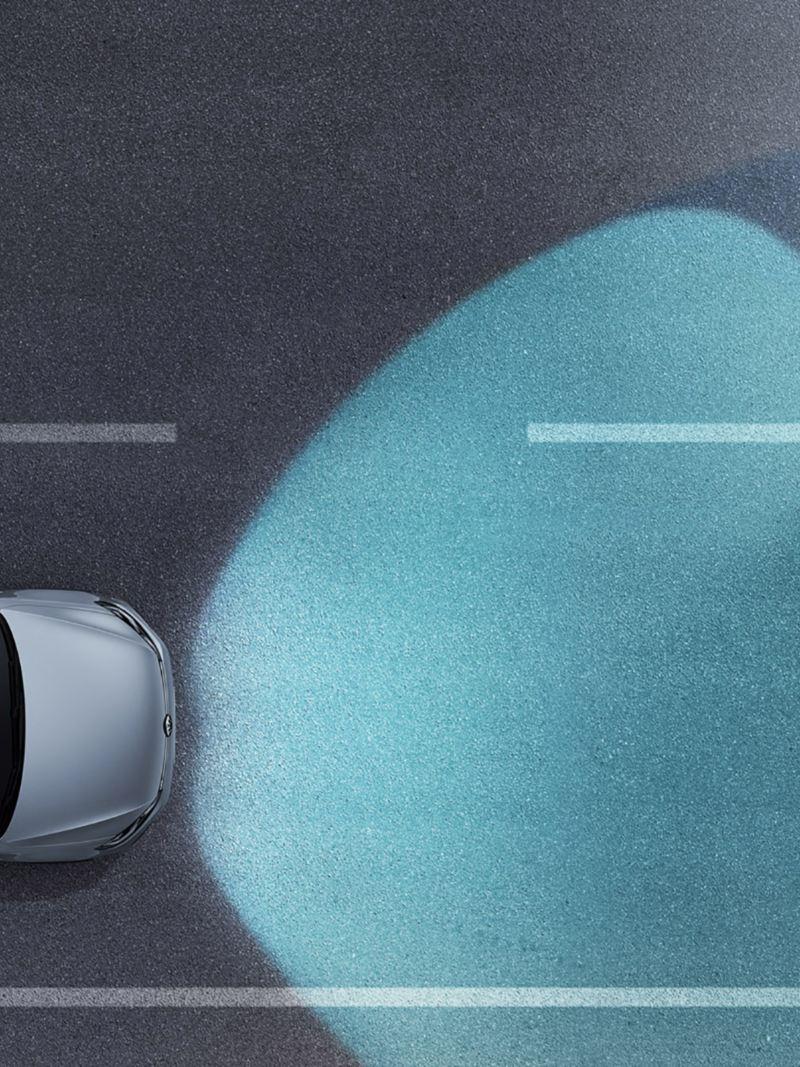 VW Golf GTD  zeigt die Funktion des Dynamic Light Assist