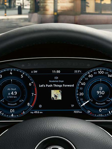 The Golf GTI active info display
