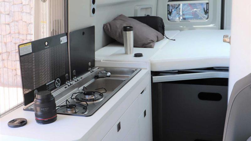 Kök i Volkswagen Grand California husbil