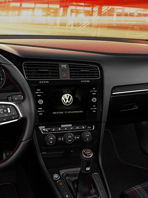 The interior of the Golf GTI