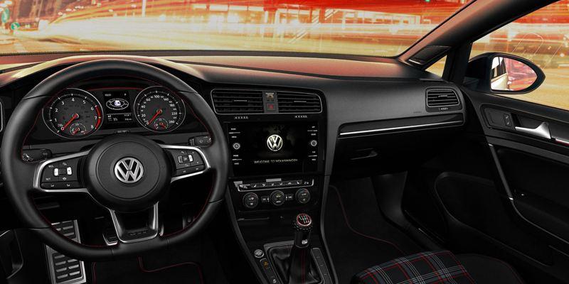 L'intérieur de la Golf GTI