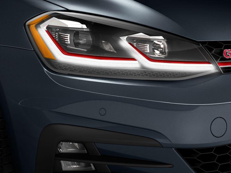 Les lumières DEL de la Golf GTI