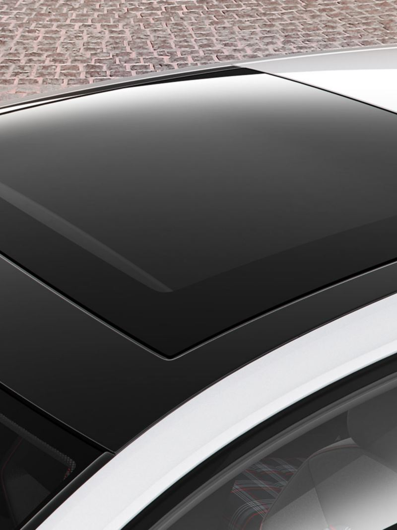 Panoramic sunroof of the Golf GTI