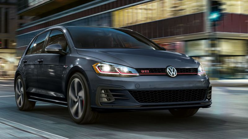 The GTI zipping down the street