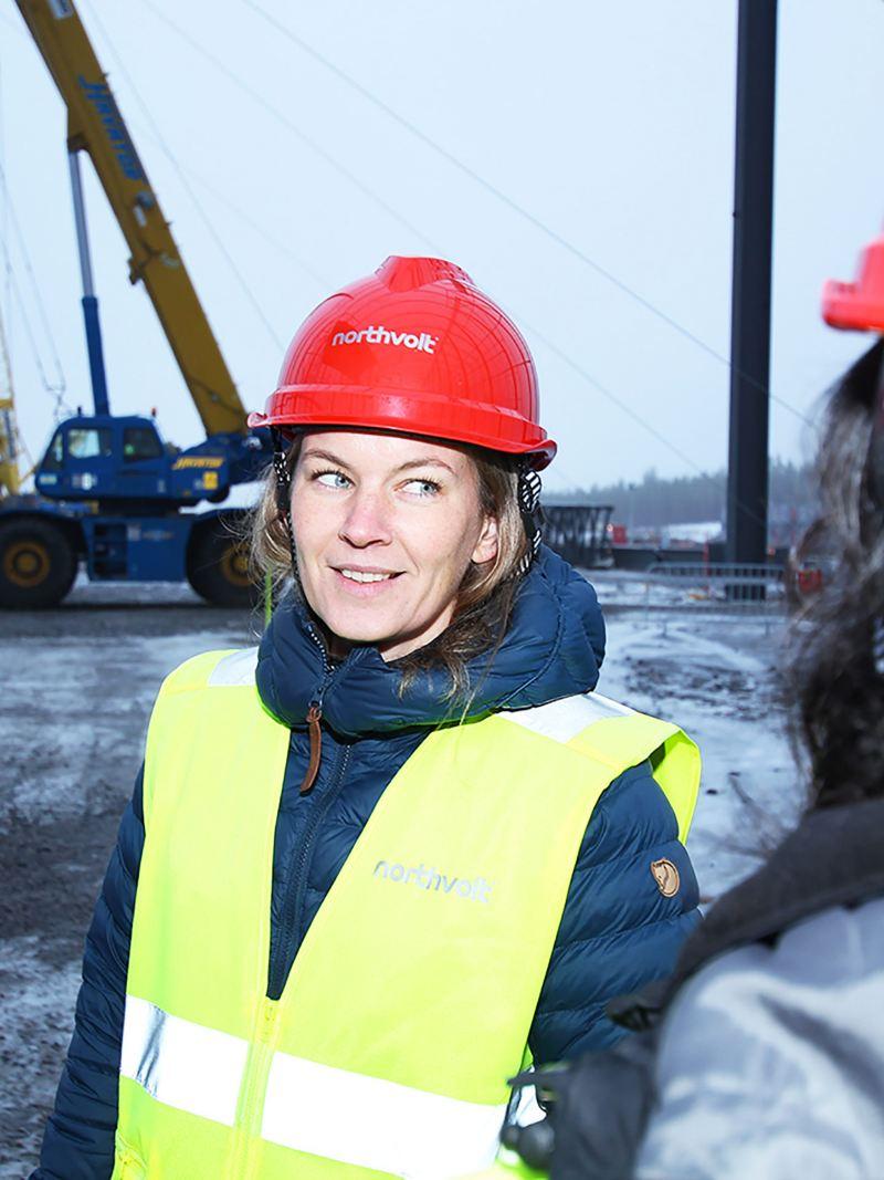 Hanna Hedlund guidar oss på Northvolts batteribygge