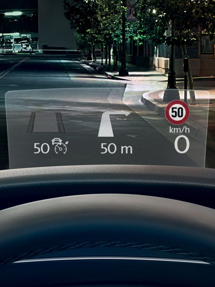 vw tiguan head up display