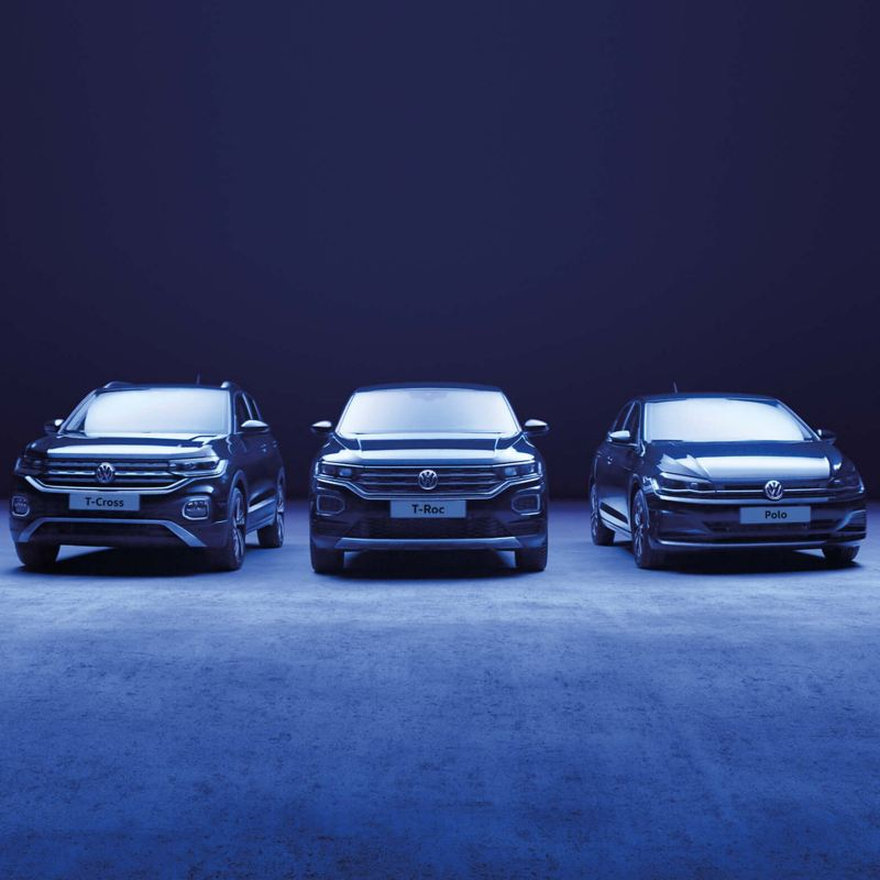 Volkswagen UNITED range T-Roc, Polo, T-Cross