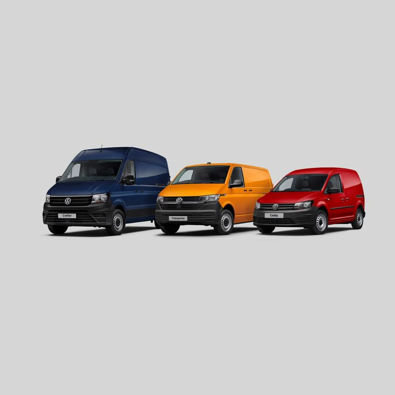 Three Volkswagen Commercial Vehicles