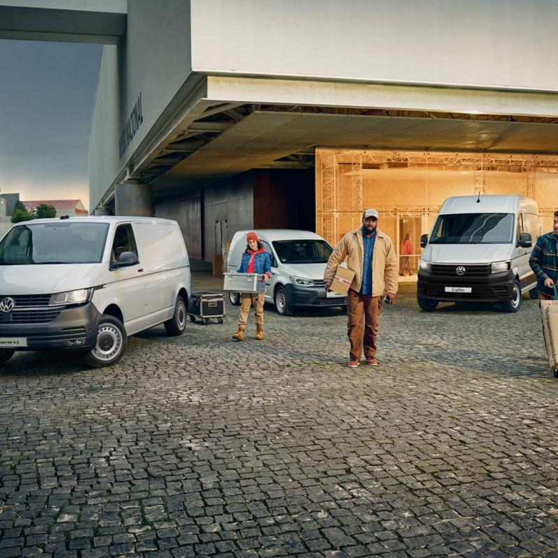 VW van range outside a business location