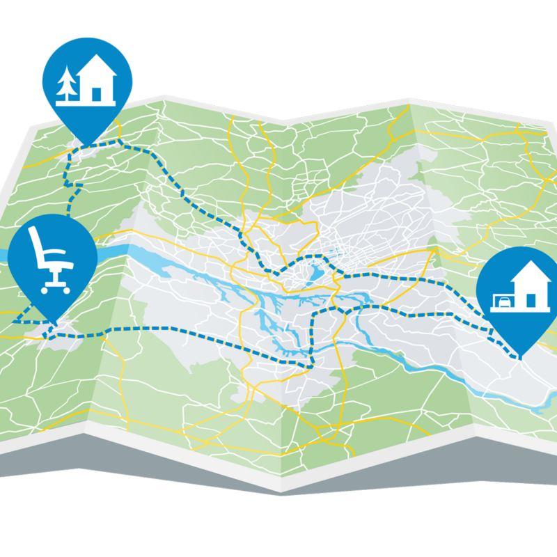 illustration av karta