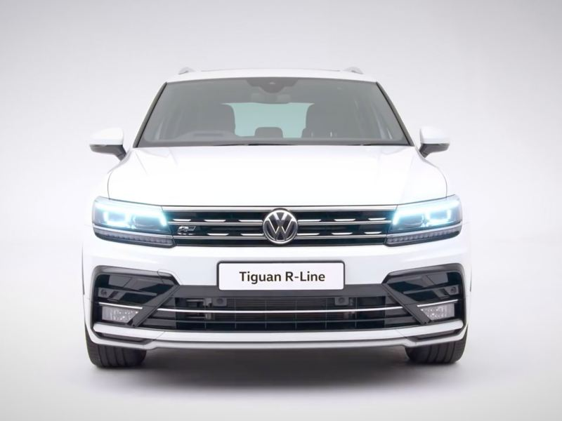 Volkswagen Tiguan R-Line from the front