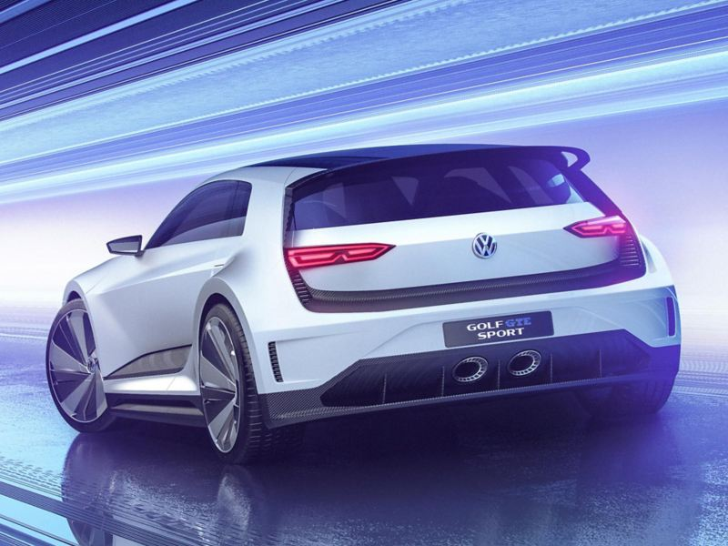 Rear view of the Golf GTE Sport
