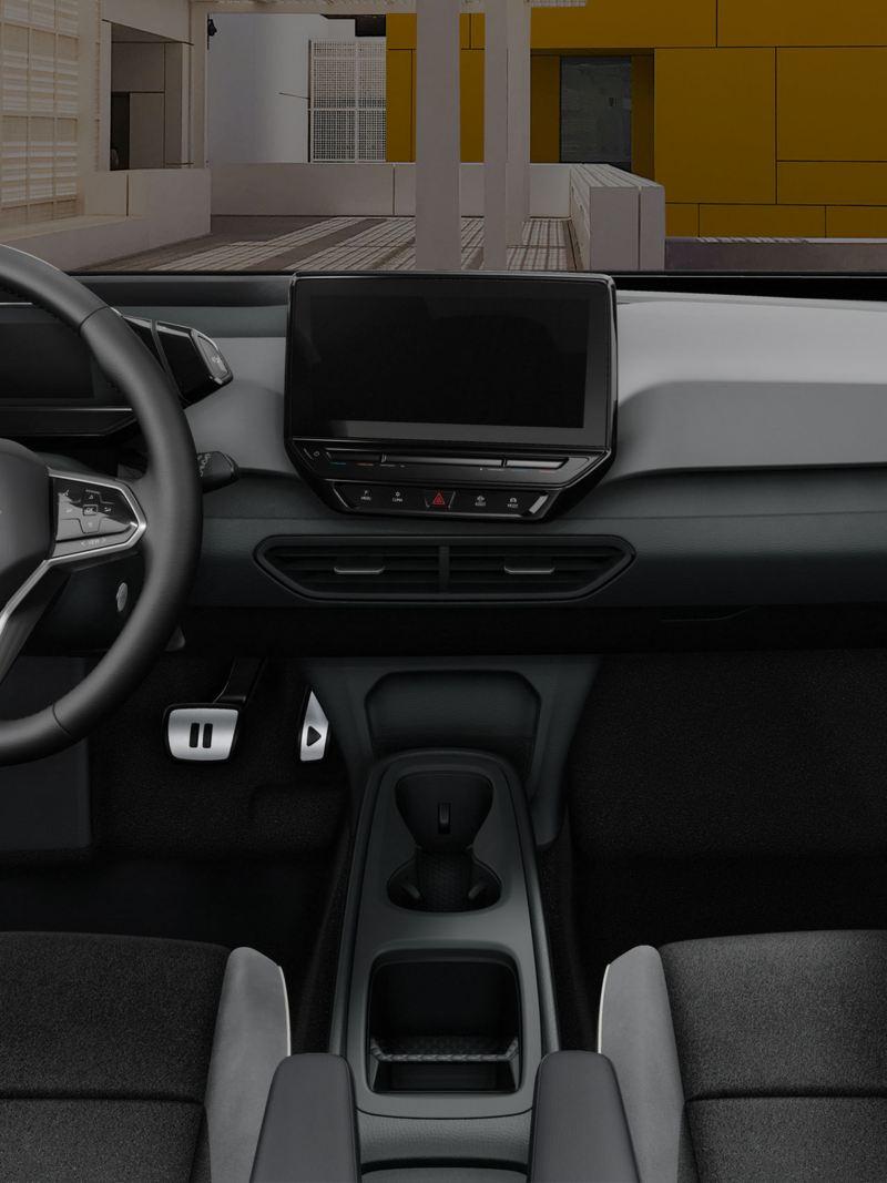 Vista volante e plancia di Volkswagen ID.3 1st Max auto elettrica