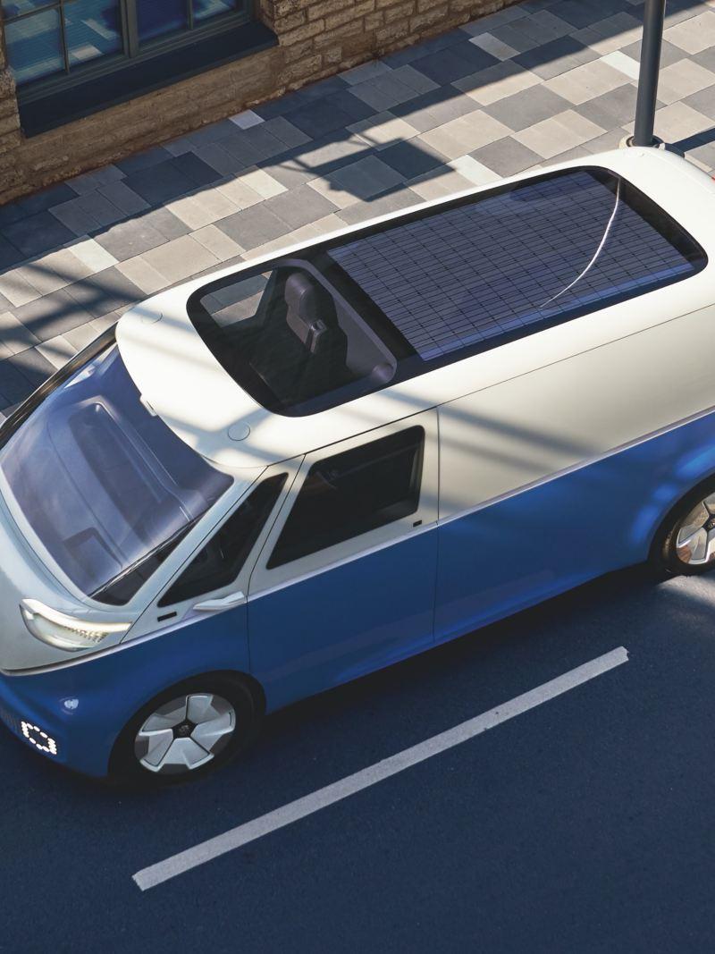 Perspetiva do Volkswagen ID. Buzz Cargo, na diagonal.