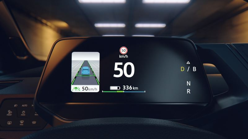 Central display shows the speed in the VW ID.3 1ST