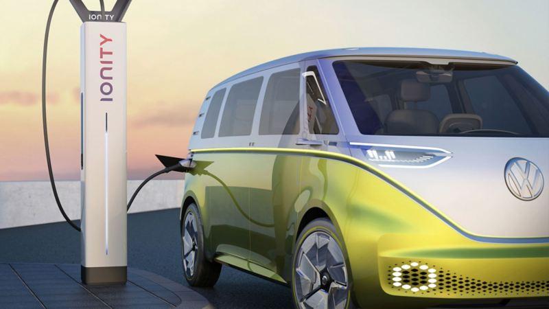 Elbilen Volkswagen VW ID. Buzz og IONITY