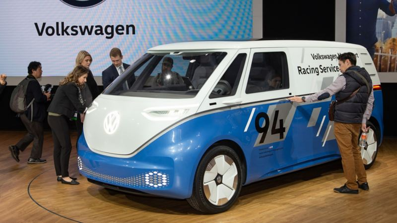 Volkswagen ID. Buzz Cargo konceptbil på LA motorshow