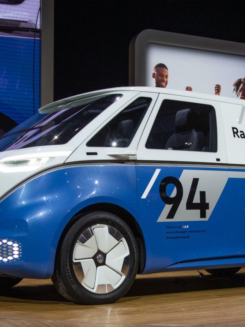 Premiärvisning av Volkswagen ID. Buzz Cargo konceptbil på LA motorshow
