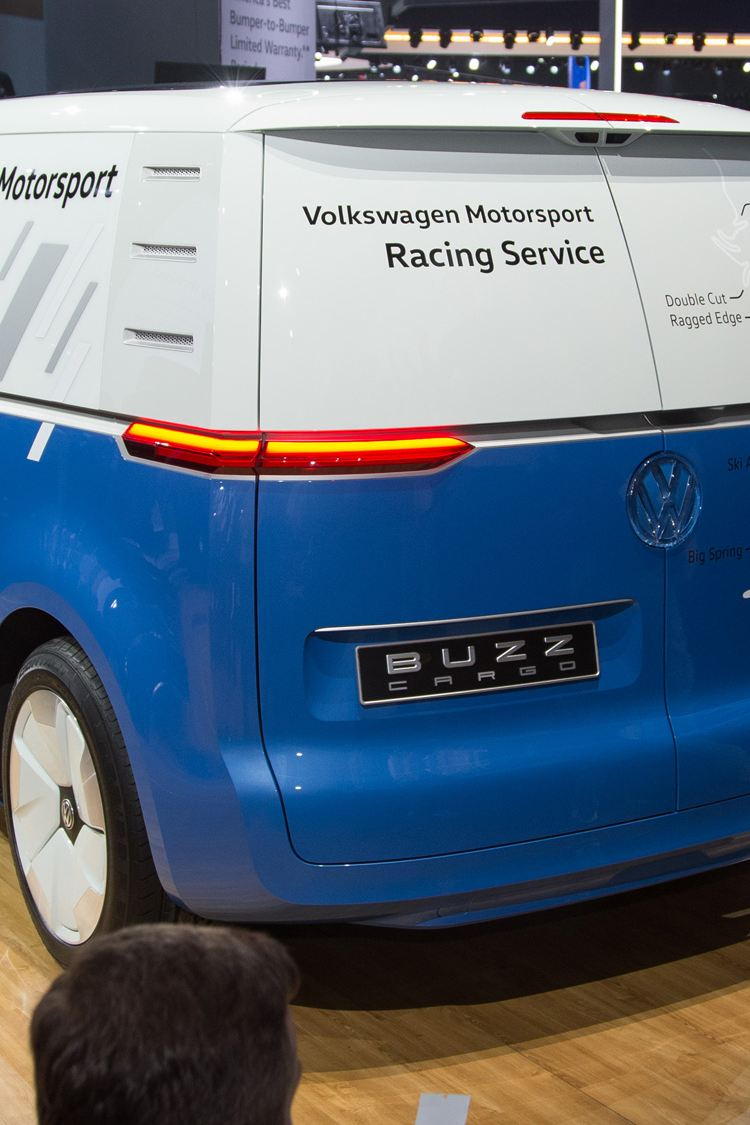 Volkswagen ID. Buzz Cargo konceptbil på LA motorshow, bakifrån
