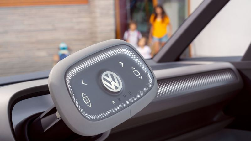Steering wheel with touchpad of the ID. Buzz